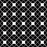 Black and white geometric abstract seamless pattern Royalty Free Stock Photos