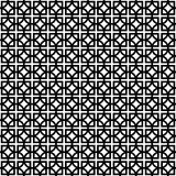 Black and white geometric background. Vector seamless pattern Stock Illustration