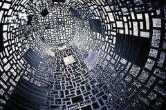 Black and white geometric background. Dark black and white geometric background Stock Images
