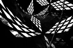 Black and white geometric background Stock Image