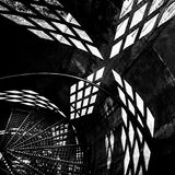 Black and white geometric background Stock Photography