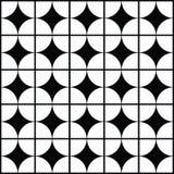 Black and white geometric background patterns icon Stock Image