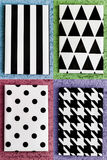 Black and White Geometric Canvas Stock Photography