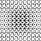Black and white geometric diamond shape seamless pattern, vector Royalty Free Stock Photos