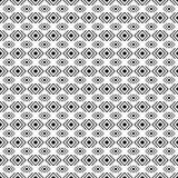 Black and white geometric diamond shape seamless pattern, vector Royalty Free Stock Photos