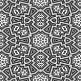 Black and white geometric floor seamless pattern texture Stock Photo