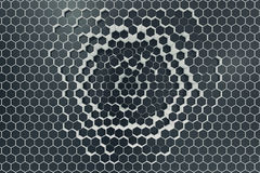Black-white geometric hexagonal abstract background. 3d rendering Stock Images