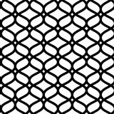 Black and white geometric moroccan ornament abstract lattice seamless pattern, vector. Background Stock Photos