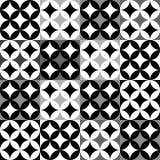 Black and white geometric pattern Stock Photo
