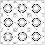 Black and white geometric pattern Background Stock Images