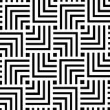Black and white geometric pattern background design | Abstract modern art decorative Royalty Free Stock Photography