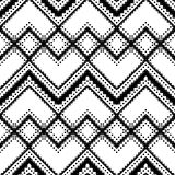 Black and white geometric pattern. Seamless ethnic background Stock Photography