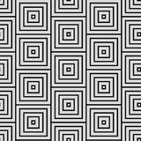 Black-white geometric  pattern. Square pattern including seamless sample in swatch panel Stock Photo