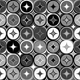 Black and white geometric seamless backgroud Royalty Free Stock Photos