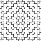 Black and white geometric seamless design. Black geometric design on white background. Seamless pattern for web, textile and wallpapers Stock Photography