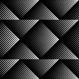 Black and white geometric seamless pattern, abstract background Stock Photo