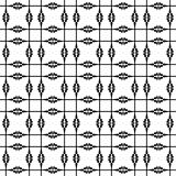 Black and white geometric seamless pattern, abstract background. Illustration Royalty Free Stock Photography