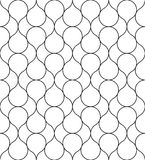 Black and white geometric seamless pattern, abstract background. Black and white geometric seamless pattern with line. Abstract background. Vector seamless Stock Photography