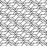 Black and white geometric seamless pattern, abstract background. Royalty Free Stock Photo