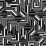 Black and white geometric seamless pattern. Abstract background. Without seams. Can be used for printing on fabric, web design, wallpaper etc. Vector eps10 stock illustration
