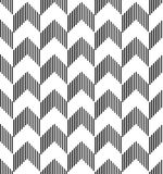 Black and white geometric seamless pattern abstract background Royalty Free Stock Photography