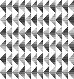 Black and white geometric seamless pattern abstract background. Black and white geometric seamless pattern with stripe and triangle abstract background, vector Royalty Free Stock Photo