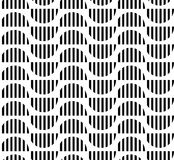 Black and white geometric seamless pattern abstract background Stock Images