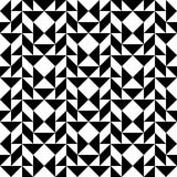 Black and white geometric seamless pattern abstract background. Black and white geometric seamless pattern with triangle trapezoid and square, abstract Royalty Free Stock Image