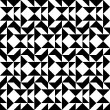 Black and white geometric seamless pattern abstract background Stock Image