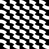 Black and white geometric seamless pattern, abstract background. Stock Photos