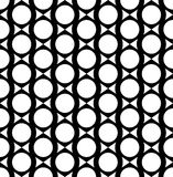 Black and white geometric seamless pattern, abstract background. Stock Photography