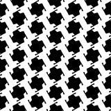 Black and white geometric seamless pattern, abstract background. Royalty Free Stock Images
