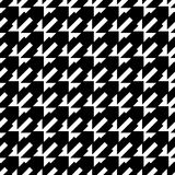 Black and white geometric seamless pattern abstract background Royalty Free Stock Photo