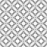 Black and white geometric seamless pattern, abstract background. Royalty Free Stock Photography