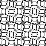 Black and white geometric seamless pattern, abstract background. Stock Photo