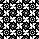 Black and white geometric seamless pattern, abstract background. Stock Images