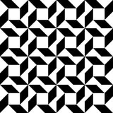 Black and white geometric seamless pattern, abstract background. Royalty Free Stock Image