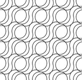 Black and white geometric seamless pattern, abstract background. Black and white geometric seamless pattern with wave line. Abstract background. Vector seamless Royalty Free Stock Photography