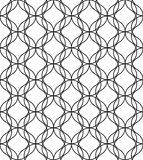 Black and white geometric seamless pattern, abstract background. Black and white geometric seamless pattern with wave line. Abstract background. Vector seamless Royalty Free Stock Image