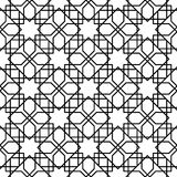 Black and white geometric seamless pattern Royalty Free Stock Images