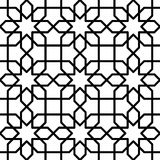 Black and white geometric seamless pattern Royalty Free Stock Photo
