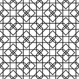 Black and white geometric seamless pattern Stock Image