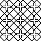 Black and white geometric seamless pattern Royalty Free Stock Image