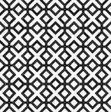 Black and white geometric seamless pattern Royalty Free Stock Photos