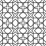 Black and white geometric seamless pattern Stock Photos