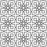 Black and white geometric seamless pattern Stock Photo