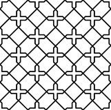 Black and white geometric seamless pattern Royalty Free Stock Image