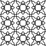 Black and white geometric seamless pattern Stock Image
