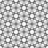 Black and white geometric seamless pattern Stock Photo