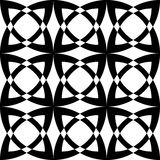 Black and white geometric seamless pattern Stock Photography